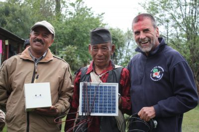 Dr. Dave Irvine Halliday founder of Light Up The World LUTW completing canadian charity work in Nepal
